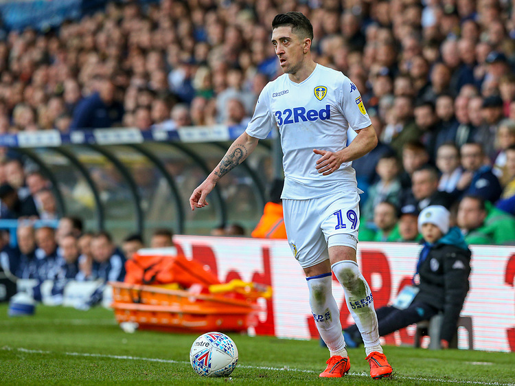 Leeds United's Pablo Hernandez in action<br /> <br /> Photographer Alex Dodd/CameraSport<br /> <br /> The EFL Sky Bet Championship - Leeds United v Millwall - Saturday 30th March 2019 - Elland Road - Leeds<br /> <br /> World Copyright © 2019 CameraSport. All rights reserved. 43 Linden Ave. Countesthorpe. Leicester. England. LE8 5PG - Tel: +44 (0) 116 277 4147 - admin@camerasport.com - www.camerasport.com