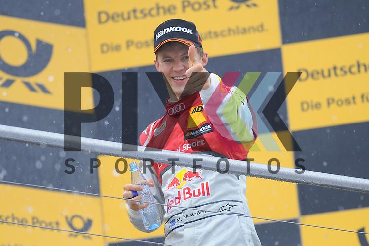 # 5 Mattias Ekstroem auf Audi RS5 DTM Audi Sport vom Team Abt Sportsline freut sich ueber den Sieg beim Rennen der DTM auf dem Hockenheimring.<br /> <br /> Foto &copy; P-I-X.org *** Foto ist honorarpflichtig! *** Auf Anfrage in hoeherer Qualitaet/Aufloesung. Belegexemplar erbeten. Veroeffentlichung ausschliesslich fuer journalistisch-publizistische Zwecke. For editorial use only.