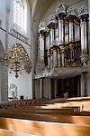 Interior Grote Kerk cathedral church, Dordrecht, Netherlands