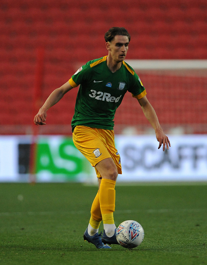 Preston North End's Tom Bayliss during the game<br /> <br /> Photographer Ian Cook/CameraSport<br /> <br /> The EFL Sky Bet Championship - Bristol City v Preston North End - Wednesday July 22nd 2020 - Ashton Gate Stadium - Bristol <br /> <br /> World Copyright © 2020 CameraSport. All rights reserved. 43 Linden Ave. Countesthorpe. Leicester. England. LE8 5PG - Tel: +44 (0) 116 277 4147 - admin@camerasport.com - www.camerasport.com