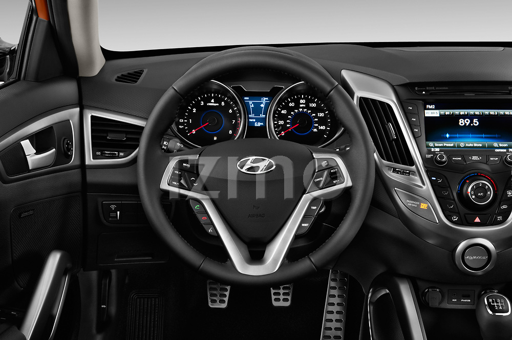 Car pictures of steering wheel view of a 2017 Hyundai Veloster Manual 5 Door Hatchback Steering Wheel