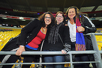 Fans in the stands after the ANZAC Day AFL match between St Kilda Saints and Brisbane Lions at Westpac Stadium, Wellington, New Zealand on Friday, 25 April 2014. Photo: Dave Lintott / lintottphoto.co.nz