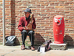 VMI Vincentian Heritage Tour: Street performer in Toulouse on Sunday, June 26, 2016, in southern France. (DePaul University/Jamie Moncrief)