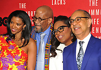 NEW YORK, NY - April 18: Renee Elise Goldsberry, Reg E. Cathey, Oprah Winfrey, Rose Byrne  attend 'The Immortal Life of Henrietta Lacks' premiere at SVA Theater on April 18, 2017 in New York City. @John Palmer / Media Punch