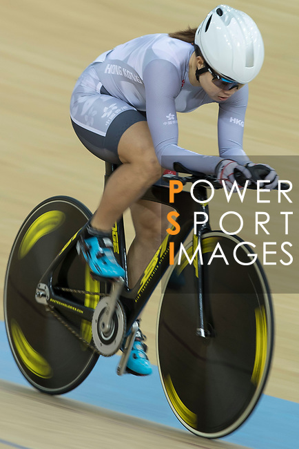 Diao Xian Juan of the IND competes in the Women Elite - Individual Pursuit Qualifying category during the Hong Kong Track Cycling National Championships 2017 at the Hong Kong Velodrome on 18 March 2017 in Hong Kong, China. Photo by Chris Wong / Power Sport Images