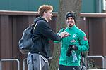 17.01.2020, Trainingsgelaende am wohninvest WESERSTADION,, Bremen, GER, 1.FBL, Werder Bremen Training ,<br /> <br /> Ankunft der Spieler am Stadion in  Zivil vor dem Auswaertsspiel in Duesseldorf<br />  im Bild<br /> <br /> Joshua Sargent (Werder Bremen #19)<br /> Fin Bartels (Werder Bremen #22)<br /> <br /> <br /> Foto © nordphoto / Kokenge