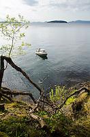 Fishing Boat off Jones Island, San Juan Islands, Washington, US