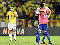BARRANQUILLA - COLOMBIA - 05-10-2017:  Falcao Garcia jugador de Colombia luce decepcionado después del partido entre Colombia y Paraguay de la fecha 17 para la clasificación a la Copa Mundial de la FIFA Rusia 2018 jugado en el estadio Metropolitano Roberto Melendez en Barranquilla. / Falcao Garcia player of Colombia looks disappointed after the match between Colombia and Paraguay of the date 17 for the qualifier to FIFA World Cup Russia 2018 played at Metropolitan stadium Roberto Melendez in Barranquilla. Photo: VizzorImage/ Gabriel Aponte / Staff