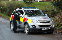 "Pictured: A fire service vehicle arrives at the property in Llangammarch Wells, mid Wales, UK<br /> Re: People are feared to have died in a serious house fire in Powys, Wales.<br /> Four fire crews were called to the property near Llangammarch Wells, between Llanwrtyd Wells and Builth Wells, just after midnight on Monday.<br /> Mid and West Wales Fire and Rescue Service said the blaze was ""well developed"" when firefighters arrived at the scene.<br /> It is not known how many people may have been inside the house at the time of the blaze.<br /> A Welsh Ambulance Service spokesman said it sent its Hazardous Area Response Team, as well as four crews in emergency ambulances and an ambulance officer to the scene."