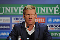 VOETBAL: HEERENVEEN: Abe Lenstra Stadion 08-11-2014, SC Heerenveen - Go Ahead Eagles, uitslag 2-2, Foeke Booy (trainer Go Ahead Eagles), ©foto Martin de Jong