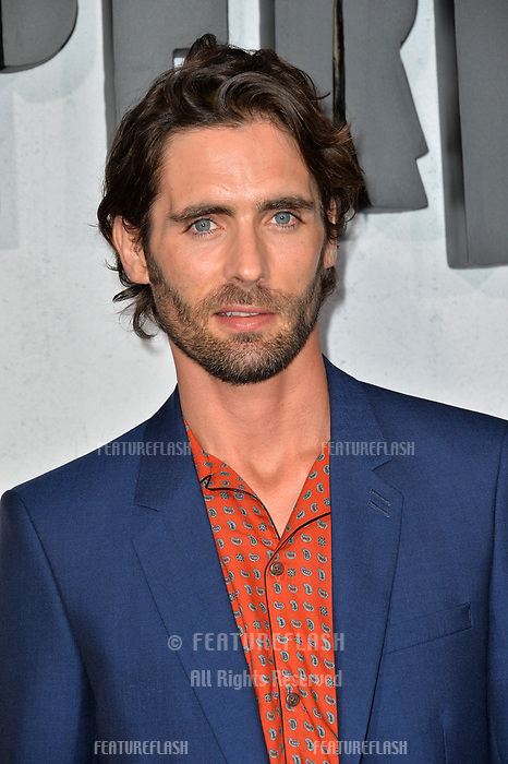 "LOS ANGELES, CA. August 28, 2018: Tyson Ritter at the world premiere of ""Peppermint"" at the Regal LA Live."