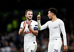 Tottenham's Harry Kane celebrates with Dele Alli during the UEFA Champions League match at the Tottenham Hotspur Stadium, London. Picture date: 26th November 2019. Picture credit should read: David Klein/Sportimage