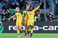 7th November 2019, Rome, Italy; UEFA Europa League football , group stages, Lazio versus Glasgow Celtic;  Jules Olivier Ntcham celebrates his late goal to seal the game for Celtic at 1-2 in the 95th minute - Editorial Use