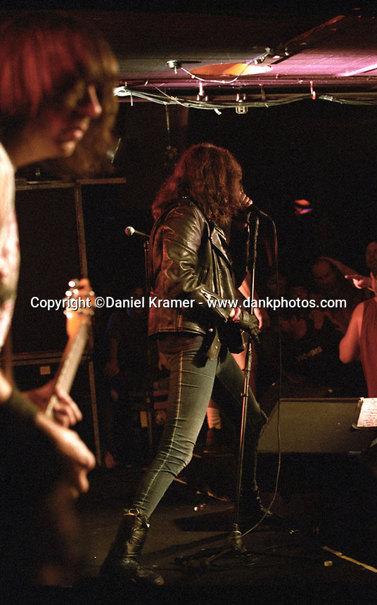 Joey Ramone performs with The Ramones on the Adios Amigos tour at the Stone Pony in Asbury Park, New Jersey on August 12, 1995.