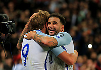 England Harry Kane celebrates with England Kyle Walker  scoring Englands only goal during the FIFA World Cup 2018 Qualifying Group F match between England and Slovenia at Wembley Stadium on October 5th 2017 in London, England. <br /> Calcio Inghilterra - Slovenia Qualificazioni Mondiali <br /> Foto Phcimages/Panoramic/insidefoto