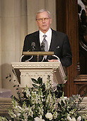 Washington, D.C. - January 2, 2007 -- Tom Brokaw eulogizes former President Gerald R. Ford during a State Funeral service at the Washington National Cathedral in Washington, Tuesday, January 2, 2007. <br /> Credit: Pablo Martinez Monsivais-Pool via CNP