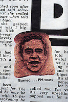 An article in the Sun newspaper characterises Prime Minister Gordon Brown as 'Brown toast'. This followed an incident in which the Labour Party leader described a voter as 'bigoted' after she talked to him about immigration. Brown had spoken with Gillian Duffy during an election campaign stop in Rochdale, and his subsequent comments about her were seen as a major gaffe. The Sun was supporting the opposition Conservative Party in the 2010 general election.
