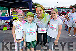Eilish, Sarah, Tommy and Roisin Corridan from Lixnaw enjoying the colour run in Killarney on Sunday.