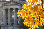 Fall colors bloom near Beardshear Hall on the campus of Iowa State University in Ames, Iowa. (Christopher Gannon/Gannon Visuals)