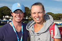 Rory McIlroy & Caroline Wozniacki enjoying the sunshine at Devonshire Park, Eastbourne