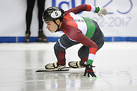 SHORT TRACK: TORINO: 14-01-2017, Palavela, ISU European Short Track Speed Skating Championships, Quarterfinals 500m Men, Shaoang Liu (HUN), ©photo Martin de Jong