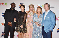BEVERLY HILLS, CA - MAY 10: (L-R) Corey Gamble, Kris Jenner, Nancy Davis, Kathy Hilton and Rick Hilton attend the 26th Annual Race to Erase MS Gala at The Beverly Hilton Hotel on May 10, 2019 in Beverly Hills, California.<br /> CAP/ROT<br /> &copy;ROT/Capital Pictures