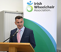 Liam Saunders IWA Area Manager, at the opening of the Irish Wheelchair Association new Community Centre at The Reeks Gateway, Killarney on Friday. Picture: macmonagle.com
