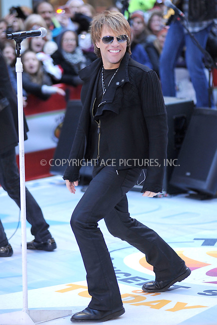 WWW.ACEPIXS.COM . . . . . .November 12, 2010, New York City....Bon Jovi performs on the Today Show at Rockefeller Center on November 12, 2010 in New York City....Please byline: KRISTIN CALLAHAN - ACEPIXS.COM.. . . . . . ..Ace Pictures, Inc: ..tel: (212) 243 8787 or (646) 769 0430..e-mail: info@acepixs.com..web: http://www.acepixs.com .