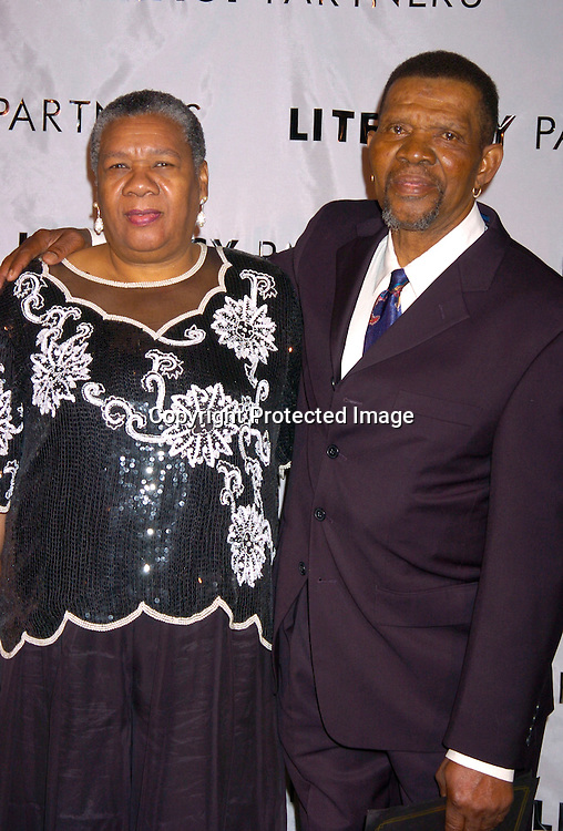 "Margaret Inniss and George Buckner ..at the 20th Annual Literacy Partners Gala  ""An Evening of Readings"" on May 3, 204 at the New York State Theatre. ..Photo by Robin Platzer, Twin Images"