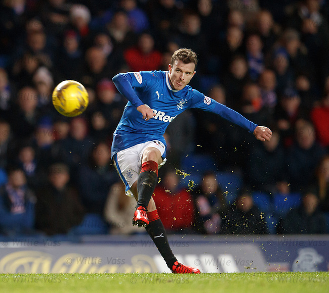 Andy Halliday blasts in a free-kick on the edge of the box