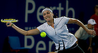 Yaroslava Shedova (KAZ) against Elena Dementieva (RUS) in the Group B match between Russia and Kazakhstan. Dementieva (Rus) beat Shvedova (KAZ) 6-3 6-1..International Tennis - Hyundai Hopman Cup XXII - Wed  06 Jan 2010 - Burswood Dome - Perth - Australia ..© Frey, AMN Images, 1st Floor, Barry House, 20-22 Worple Road, London, SW19 4DH.Tel - +44 20 8947 0100