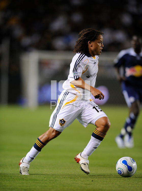 Los Angeles Galaxy (13) Cobi Jones during an MLS game against the New York Red Bulls at the Home Depot Center in Carson, CA on October 18, 2007. The LA Galaxy and the NY Red Bulls played to a 1-1 tie. (Matt A. Brown)
