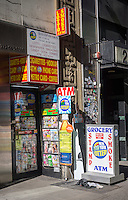 "A ""hole-in-the-wall"" convenience store in New York sells just about everything, seen on Saturday, January 31, 2015.  (© Richard B. Levine)"