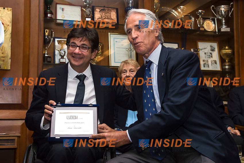 Luca Pancalli, Giovanni Malago'<br /> Roma 30-05-2017 Circolo Canottieri Aniene <br /> Premi Ussi 2017 Foto Andrea Staccioli / Insidefoto