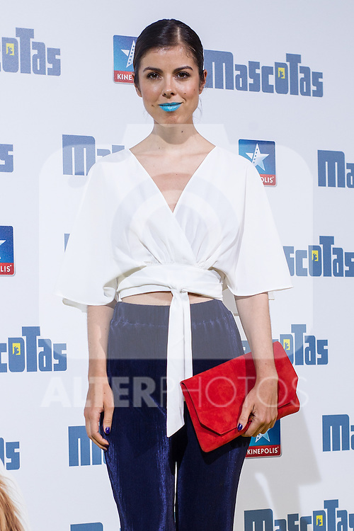 Alba Mesa during the premiere of  Mascotas at Kinepolis cinema in Madrid. July 21, 2016. (ALTERPHOTOS/Rodrigo Jimenez)