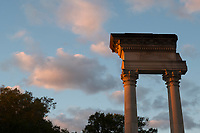 Cobb columns at sunrise.<br />  (photo by Megan Bean / &copy; Mississippi State University)