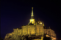 Lemont -St- Michel at night.
