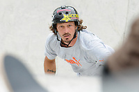 19 August, 2012: Bucky Lasek competes in the Skateboard Bowl Finals at the Pantech Beach Championships in Ocean City, Md.  Bucky finishied 2nd after rain shortened the Final.