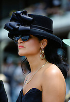 Racegoer at Melbourne Cup Races, Australia