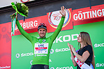 Alexander Kristoff (NOR) UAE Team Emirates wins Stage 2 and takes over the points Green Jersey of the Deutschland Tour 2019, running 202km from Marburg to Gottingen, Germany. 30th August 2019.<br /> Picture: ASO/Marcel Hilger | Cyclefile<br /> All photos usage must carry mandatory copyright credit (© Cyclefile | ASO/Marcel Hilger)