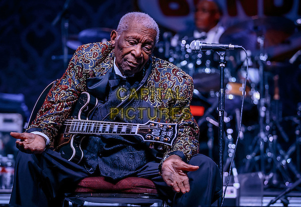 LAS VEGAS, NV - September 26: B.B. King performing at Big Blues Bender at The Riviera Hotel &amp; Casino in Las Vegas, NV on September 26, 2014.  <br /> CAP/MPI/RTNKabik<br /> &copy;RTNKabik/MediaPunch/Capital Pictures