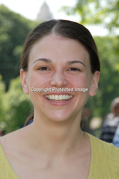 Sutton Foster of The Drowsy Chaperone..at The opening Day of The Broadway Softball League on ..May 25, 2006 in Central Park. ..Robin Platzer, Twin Images