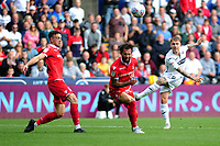 Barrie McKay of Swansea City has a shot at goal during the Sky Bet Championship match between Swansea City and Nottingham Forest at the Liberty Stadium, in Swansea, Wales, UK. Saturday 15 September 2018