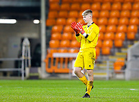 Blackpool's Sam Kellett<br /> <br /> Photographer Alex Dodd/CameraSport<br /> <br /> The FA Youth Cup Third Round - Blackpool U18 v Derby County U18 - Tuesday 4th December 2018 - Bloomfield Road - Blackpool<br />  <br /> World Copyright &copy; 2018 CameraSport. All rights reserved. 43 Linden Ave. Countesthorpe. Leicester. England. LE8 5PG - Tel: +44 (0) 116 277 4147 - admin@camerasport.com - www.camerasport.com
