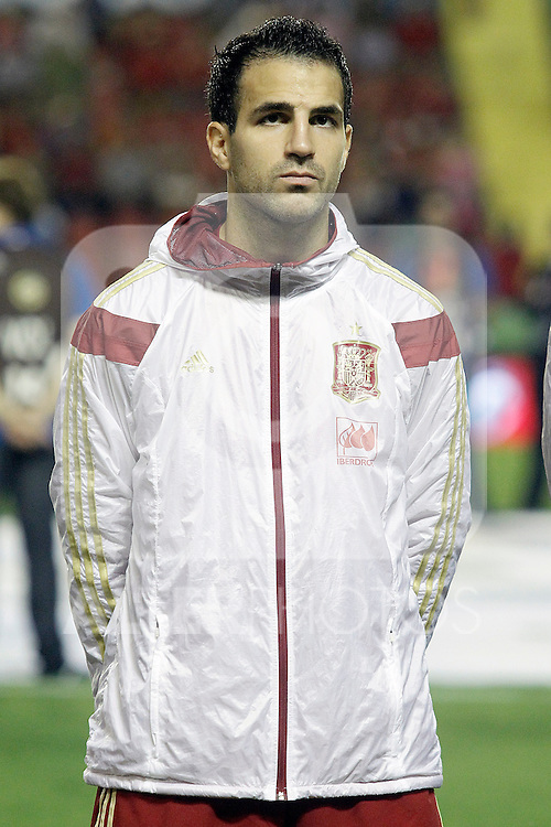 Spain's Cesc Fabregas during 15th UEFA European Championship Qualifying Round match. September 8,2014.(ALTERPHOTOS/Acero)