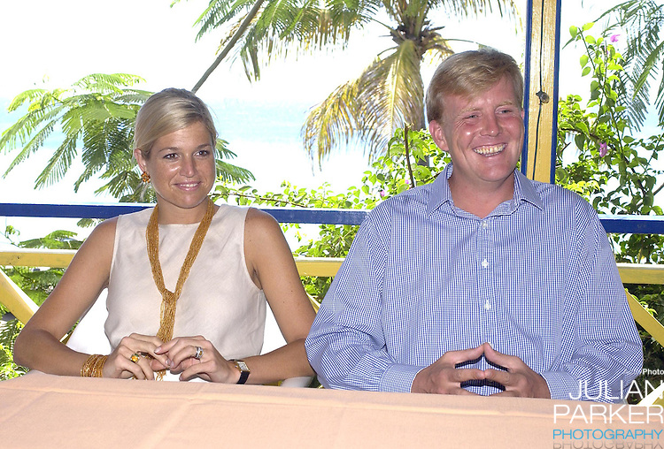Crown Prince Willem Alexander, and Crown Princess Maxima of Holland visit The Dutch Antilles..Visit the Island of St Eustatius..The Royal Couples program included, a cultural presentation at Fort Orange, a visit to a medical centre, a presentation on National Parks.