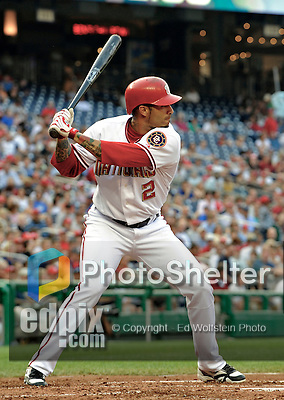 12 July 2008: Washington Nationals' second baseman Felipe Lopez in action against the Houston Astros at Nationals Park in Washington, DC. The Astros defeated the Nationals 6-4 in the second game of their 3-game series...Mandatory Photo Credit: Ed Wolfstein Photo