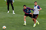 Dani Ceballos and Jordi Alba during the Trainee Session at Ciudad del Futbol in Las Rozas, Spain. September 02, 2019. (ALTERPHOTOS/A. Perez Meca)