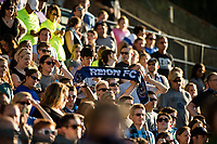 Seattle, WA - Saturday, July 1, 2017:  Seattle Reign FC fans during a regular season National Women's Soccer League (NWSL) match between the Seattle Reign FC and the Portland Thorns FC at Memorial Stadium.