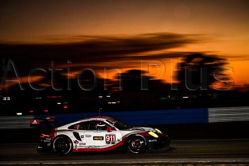 March 18th, 2017; Sebring, Florida, USA; 12 Hours of Sebring Weathertech Sportscar championship;  #911 PORSCHE GT TEAM (DEU) PORSCHE 911 RSR GTLM PATRICK PILET (FRA) DIRK WERNER (DEU) FREDERIC MAKOWIECKI (FRA)